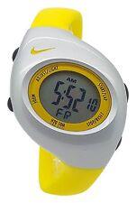New Nike Kids Triax Junior WR0017 Vivid Yellow Silver Digital Sports 38mm Watch