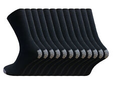 12 Pairs Mens Work Socks Size 6-11 Cotton Rich Arch Foot Support Heavy Duty