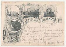 Litho Ak Gruß vom Rathskeller Zittau 1897 ! (A1642