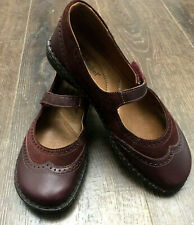 Josef Seibel Leather Casual Shoes Size Sz 41 U.S. 9.5 M Red Burgundy Mary Jane