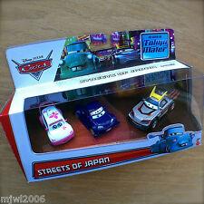 Disney Cars TOON CHO & KABUTO WITH FLAMES NINJA Tokyo Mater STREETS OF JAPAN 3PK