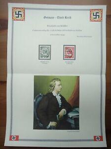Germany Nazi 1934 Stamps used Friedrich von Schiller Third Reich Deutschland Ger