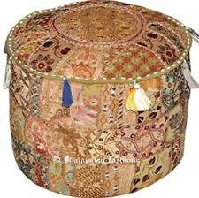 Casa tradicional indio decorativo hecho a mano y reposapiés de retazos Otomano por