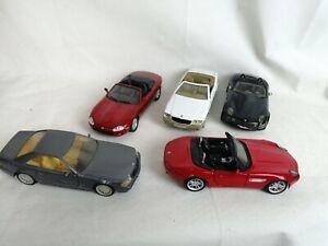 1/24 diecast vehicles Joblot 5 Cars Maisto welly Mercedes jaguar BMW collection