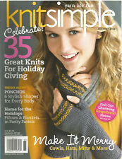 KNITSIMPLE MAGAZINE 35 GREAT KNITS FOR HOLIDAY GIVING 2016