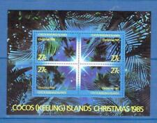 COCOS IS 1985 Christmas min sheet MUH