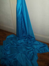 "2M BLUE   COLOURED  TAFFETA  FABRIC 58"" WIDE"