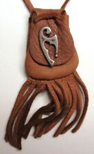 "mahogany tuck, (""captain morgan"") charm Maori Tribal design medicine bag -"