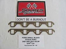 Ford Small Block Stock Port Exhaust Gaskets
