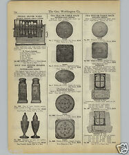 1927 PAPER AD Netherlands Tea Tile Table Mats Galleon Design Salt & Papper
