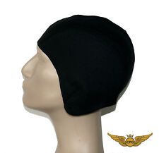 Pilot aviation SKULL CAP for Inner Flight Helmet - black