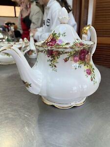 Vintage Royal Albert Old Country Roses Bone China England Large Teapot CoffeePot