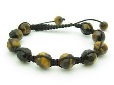 Shamballa Design Macrame Tiger Eye Bead Stackable Bracelet Unique Gift Idea