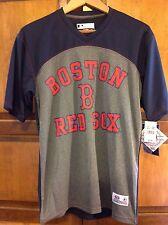 New! Boston Red Sox Men's Shirt, S Small, Short Sleeve, MLB, True Fan, Blue Grey