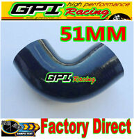 """NEW Silicone 90 degree Elbow Hose Pipe 2"""" 51mm turbo intercooler intercooler"""