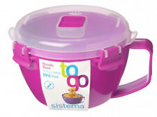 Sistema rose Klip Il Micro-ondes Pâtes bol de soupe de nouilles 940ml Déjeuner Snack sans BPA