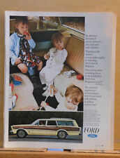 1966 magazine ad for Ford - Station Wagon, Robert Benchley quote about travel