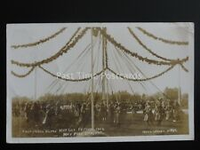 KNUTSFORD Royal May Day Festival MAY POLE & DANCERS c1908 RPPC by Neils