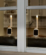 Set of 2 Solar Holiday Christmas Window Candles NEW