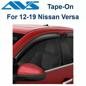 AVS 94298 Fits 2012-2019 Nissan Versa Rain Guard 4Pc Tape-On Window Vent Visors