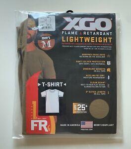 NEW XGO S/S PHASE 1 FLAME RETARDANT LIGHTWEIGHT CREW TAN T-SHIRT SIZE Medium