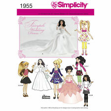 Simplicity SEWING PATTERN 1955 Clothes For Fashion Dolls Inc Wedding Dress