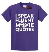 I Speak Movie Quotes Funny T Shirt Movie Lover TV Show Nerd Gift Tee