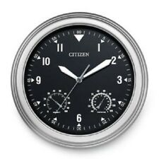 CITIZEN CC2017 Outdoor Water-Resistant Silver-Tone Circular Clock