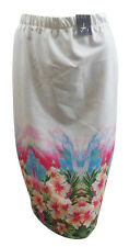 Atmosphere Women's Striking White and Floral Skirt, Sizes 10 12 14 16 New NWT
