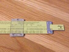 """Vintage Pickett N902-ES """"Simplex Trig"""" SLIDE RULE Log Math Metal Ruler"""