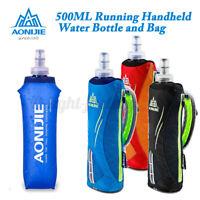 500ML AONIJIE TPU Soft Flask Sports Running Cycling Water Hydration Bottle /