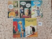 Lot of 5 Funny Novelty Risque ADULT Unused Bamforth Postcards #8