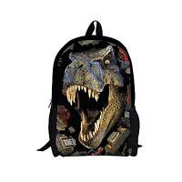 Mens Womens Dinosaur Backpack School Bag Travel Satchel Shoulder Bag Rucksack