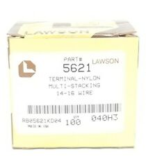 BOX OF 83 NEW LAWSON 5621 TERMINAL-NYLON MULTI-STACKING 14-16 WIRE