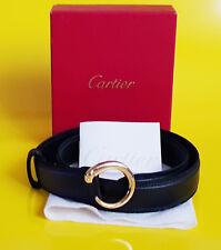 CARTIER Gürtel PANTHERE Strap PANTERA Ceintiure LEDER / GOLD Belt BOX  NEU & OVP