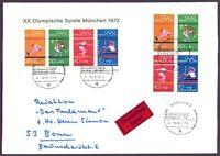 Bund 1972 - Herrlicher Ersttags-Brief mit Olympia-Block 8 und Heftchenblatt
