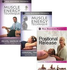 Muscle Energy Technique & Positional Release - Medical Massage Video 3 DVD Set