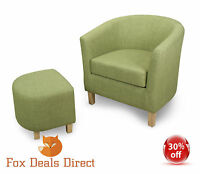 Tub Chair Set Shankar Lime Fabric Tub Chair And Footstool Set Lounge Occasional