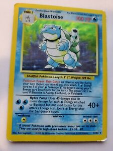Base Set Blastoise Holo Pokemon Card