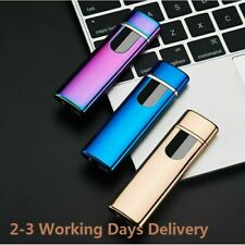 Electric Lighter Windproof Cigarettes Plasma USB Rechargeable Flameless