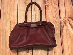 Michael Kors Hamilton East West Satchel/Tote Shoulder handbag maroon bag