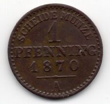 Germany - Preussen / Prussia - 1 Pfennig 1870 A