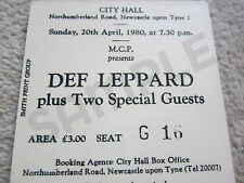 Def Leppard Concert Coasters Ticket April 1980 High quality mdf coaster