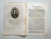 1817 Ortolani, Ritratto/Bio di Vincenzo Ciullo d'Alcamo,Poeta, Sicilia XIII sec.