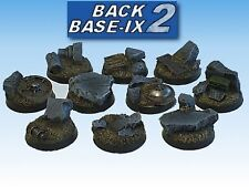 25mm Resin Scenic Bases (50) Round Rubble Warhammer 40k