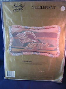 "Candamar Something Special Needlepoint SHELLS Pillow 20"" x 12"" 30647"