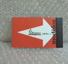 VESPA MINI Quaderno Notes Blocco Note 125 ROSSO NUOVO Modeles
