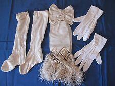 Ancien brassard de communiant + gants et chaussettes - Direct Grenier