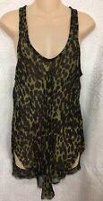 Isabel Marant Etoile razor Back Short Dress Kaki  And Black Animal Print Size 38