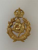 British Army Worcestershire Hussars Metal Cap Badge  BRASS WWI MODEL